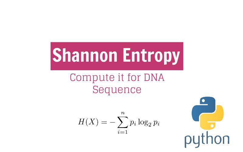 Simple Script for Shannon Entropy