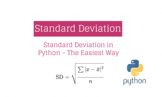 Standard Deviation in Python - The Easiest Way