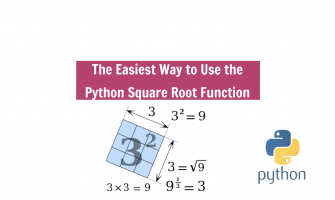 The Easiest Way to Use the Python Square Root Function