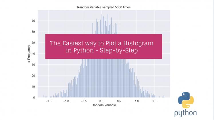 plot histogram python